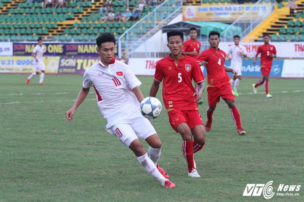 Khac Khiem ghi ban cuc nhanh, U19 Viet Nam cam chan U21 Myanmar hinh anh 1