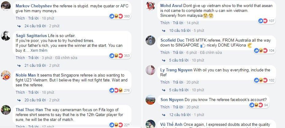 Fan chau A 'soi mau', trach trong tai Singapore thien vi U23 Qatar hinh anh 1