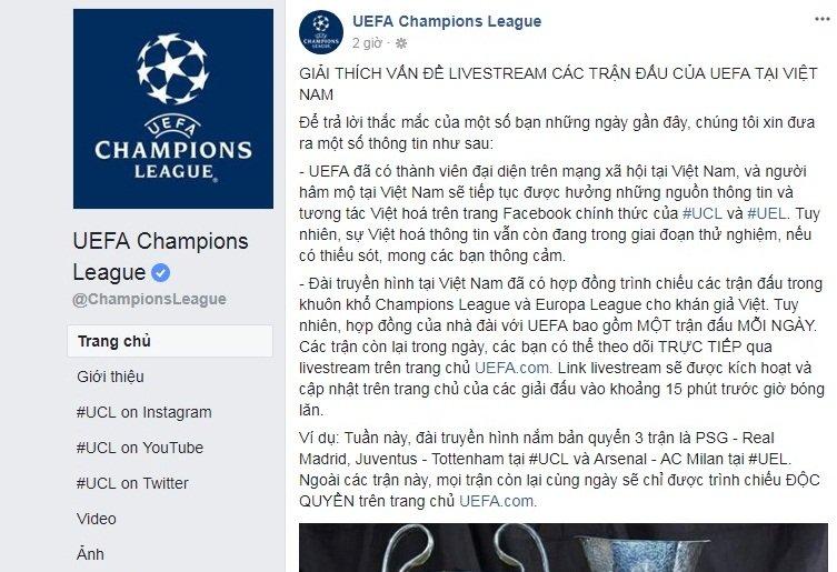 Khan gia Viet Nam van duoc xem livestream co ban quyen cup C1 mien phi hinh anh 1