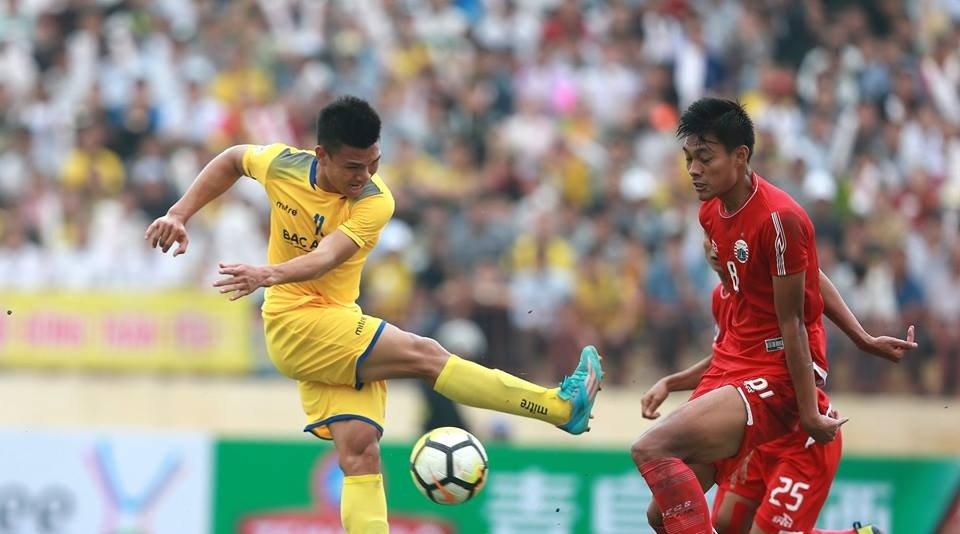 AFC Cup: Cat ngoi sao U23 Viet Nam, SLNA thua dau phut bu gio hinh anh 1