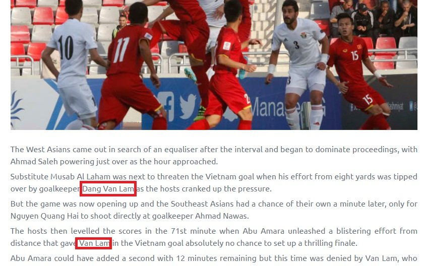 Trang chu AFC nham ten nguoi hung cua doi tuyen Viet Nam hinh anh 1