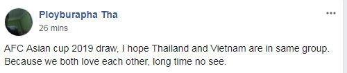 Fan Thai Lan mong gap Viet Nam ngay vong bang Asian Cup 2019 hinh anh 1