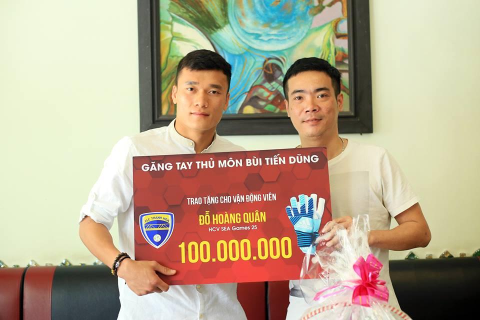 Tang 100 trieu dong giup nha vo dich SEA Games chua ung thu, Bui Tien Dung nhan loi khuyen quy gia hinh anh 1