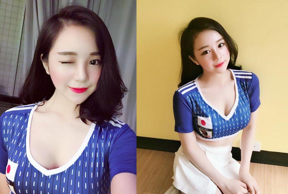 Ngam dan my nu 'Nong cung World Cup' tren VTV dep nghieng nuoc nghieng thanh hinh anh 1