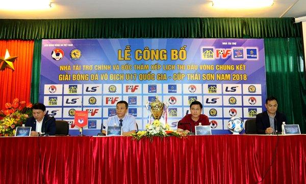 Thai Son Nam tai tro giai U17 Quoc gia 2018 hinh anh 1