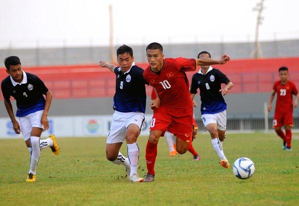 Thang vat va, HLV U16 Viet Nam khen U16 Campuchia tien bo than toc hinh anh 1