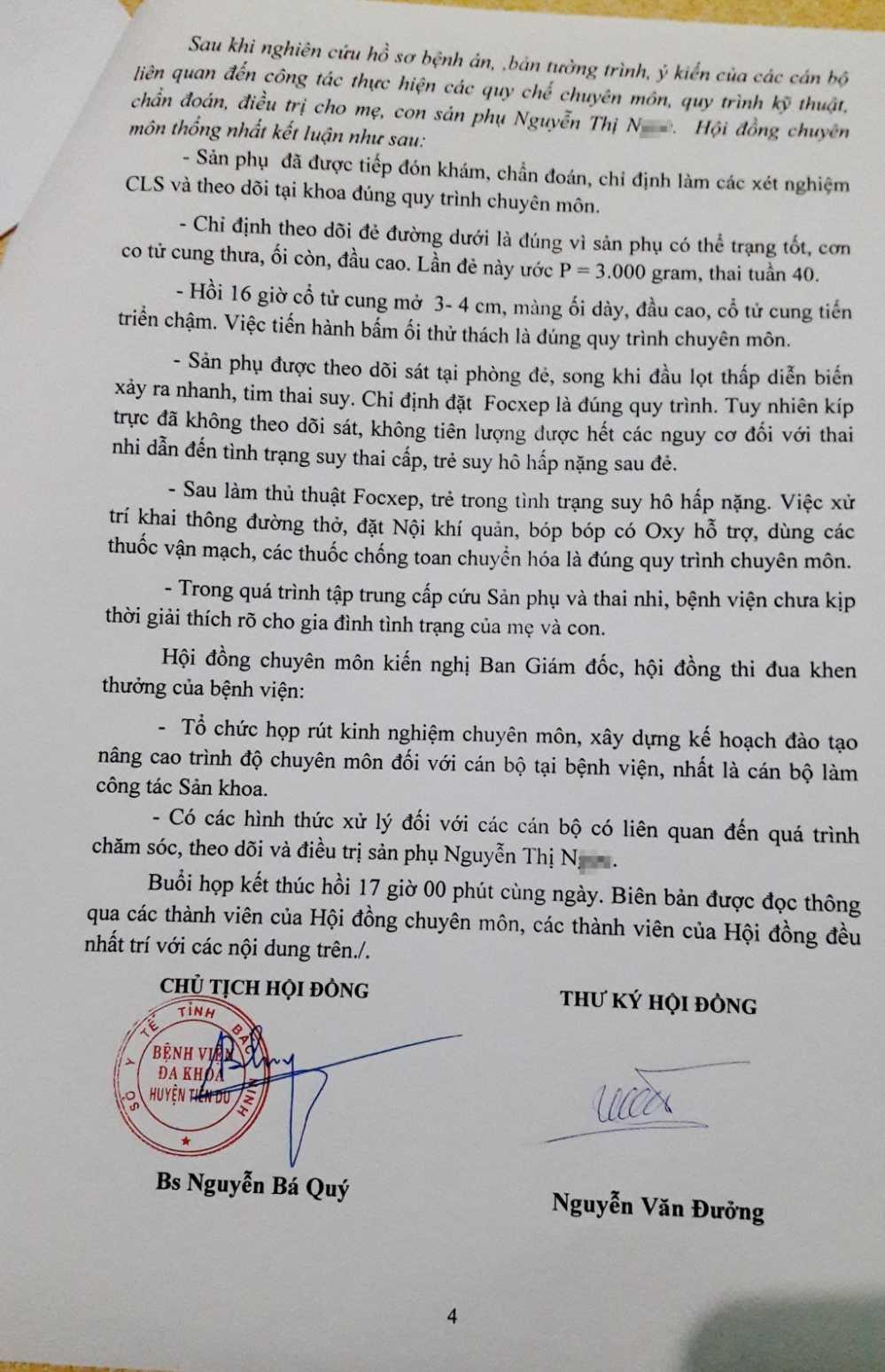 Be tu vong sau khi sinh o Bac Ninh: Giam doc Benh vien noi gi? hinh anh 2