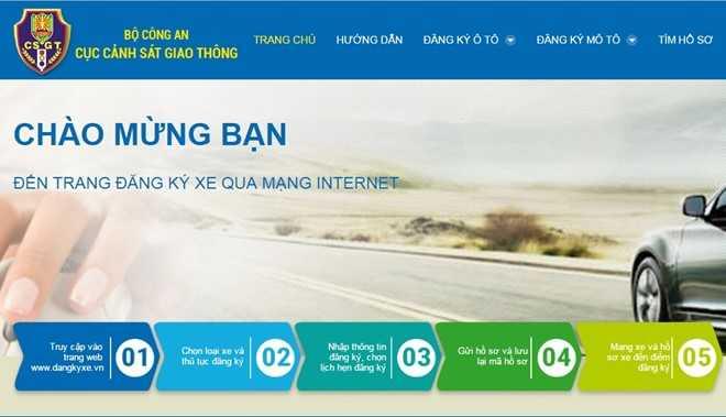 Nguoi Ha Noi va TP.HCM co the dang ky oto qua mang hinh anh 1
