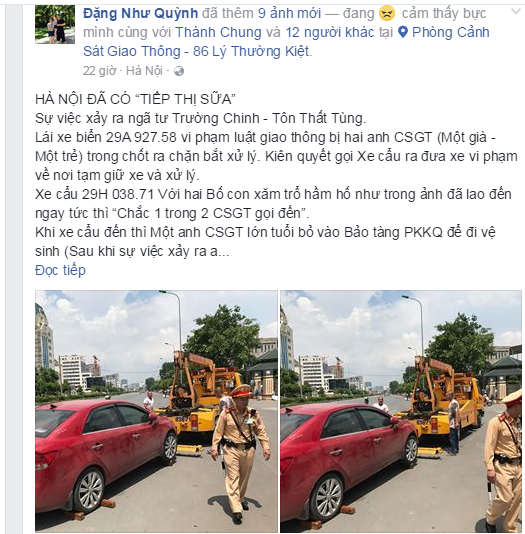 Nghi van tai xe vi pham bi lai xe cau hanh hung truoc mat CSGT: Lanh dao don vi noi gi? hinh anh 2