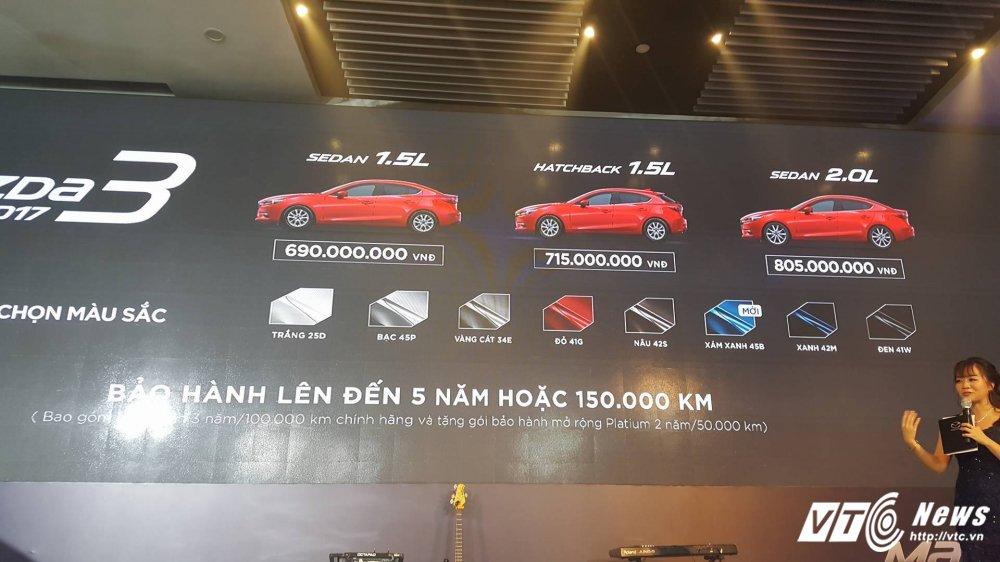 Mazda3 2017 chinh thuc ra mat tai Viet Nam, gia khoi diem 690 trieu dong hinh anh 3