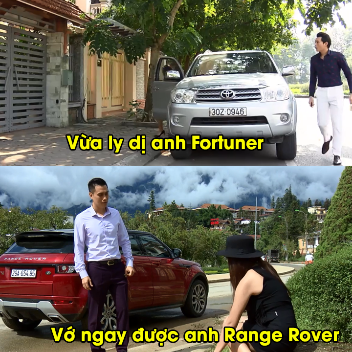 So sanh giua Toyota Fortuner 'chong cu' va Range Rover 'chong moi' trong phim Song chung voi me chong hinh anh 2