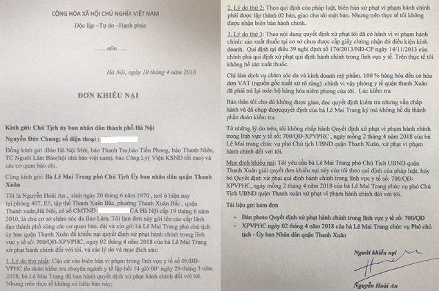 Ha Noi: Xu phat loi khong co thuc, UBND quạn Thanh Xuan phai dinh chi quyet dinh hinh anh 1