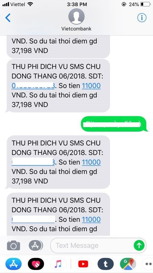 Nhieu khach hang Vietcombank bi 'khung bo' SMS trong sang 8/7: Ngan hang noi gi? hinh anh 2