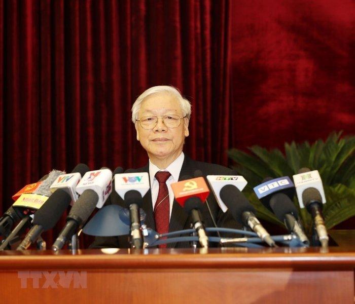 Anh: Be mac Hoi nghi Trung uong 7 khoa XII hinh anh 1