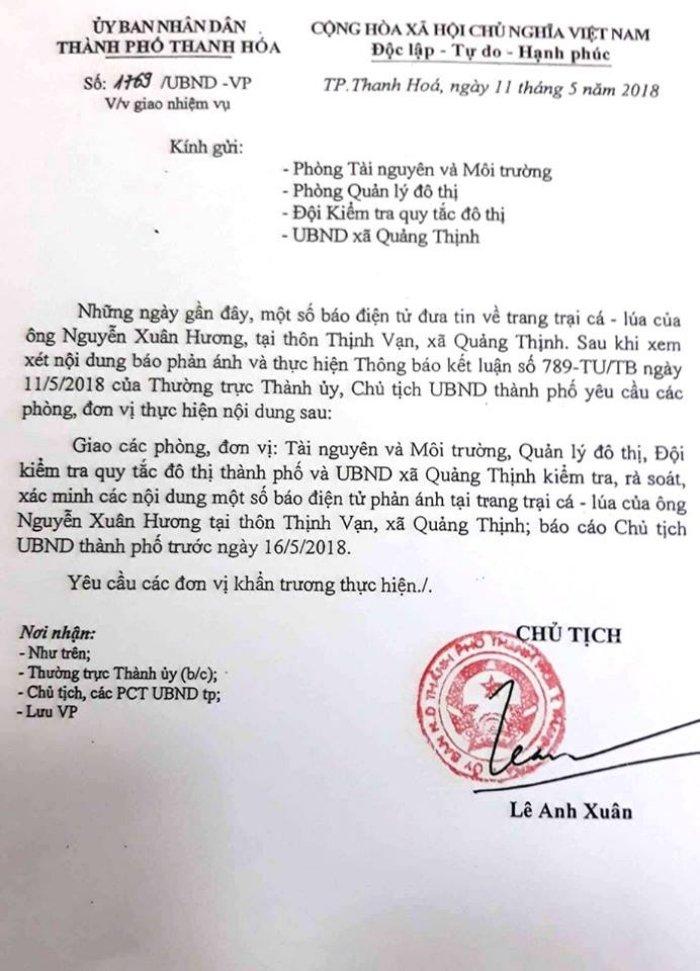 Kiem tra cong trinh 'Lang am thuc xu Thanh' trai phep cua em trai bi thu TP. Thanh Hoa hinh anh 1