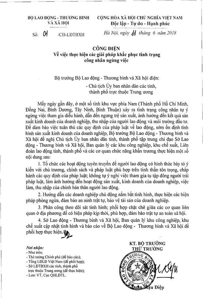 Bo LD-TB&XH: Can khac phuc tinh trang cong nhan nghi viec de gay roi hinh anh 1