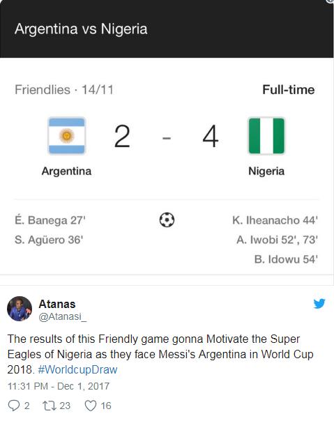 World Cup 2018: Duyen ky la cua cap dau Argentina vs Nigeria hinh anh 3