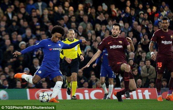 Messi ghi ban thang lich su, Barca hoa may man truoc Chelsea hinh anh 1