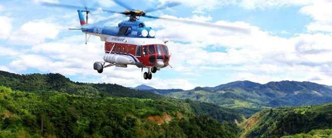 Ba Ria-Vung Tau: May bay truc thang mat lien lac sau 15 phut cat canh hinh anh 1