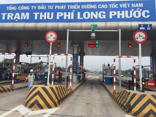 Bat dau thu phi bang the dien tu tren cao toc TP.HCM - Dau Giay hinh anh 1