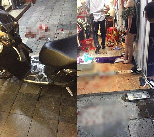 Nguyen nhan khien chong truy sat, chem vo toi tap trong shop quan ao giua pho co Ha Noi hinh anh 1