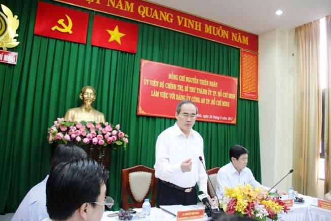 Bi thu Nguyen Thien Nhan noi gi ve vu Dong Tam? hinh anh 1