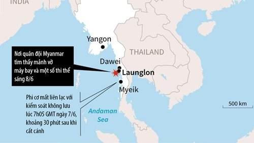 Roi may bay quan su Myanmar: Tim thay 29 thi the nan nhan hinh anh 2