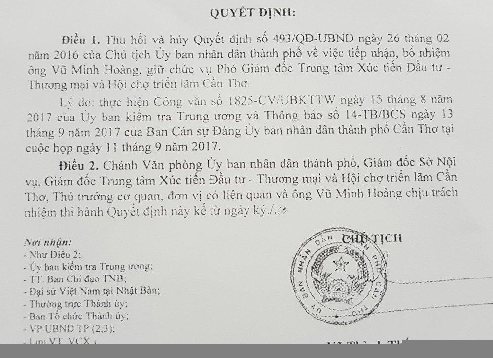 Can Tho 'tra' nguyen vu pho duoc bo nhiem 'than toc' cho Ban chi dao Tay Nam bo hinh anh 2