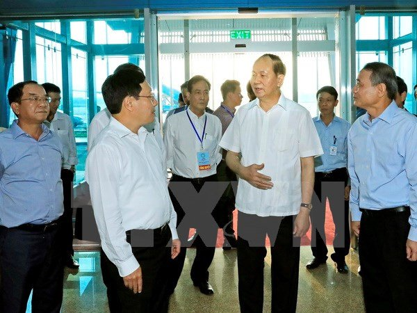 Chu tich nuoc Tran Dai Quang kiem tra cong tac don tiep lanh dao cac nen kinh te APEC hinh anh 1