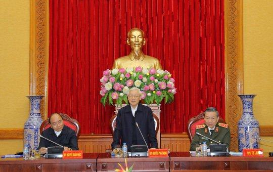Tong Bi thu chỉ dạo phien họp Thuòng vụ Dảng ủy Cong an Trung uong hinh anh 1
