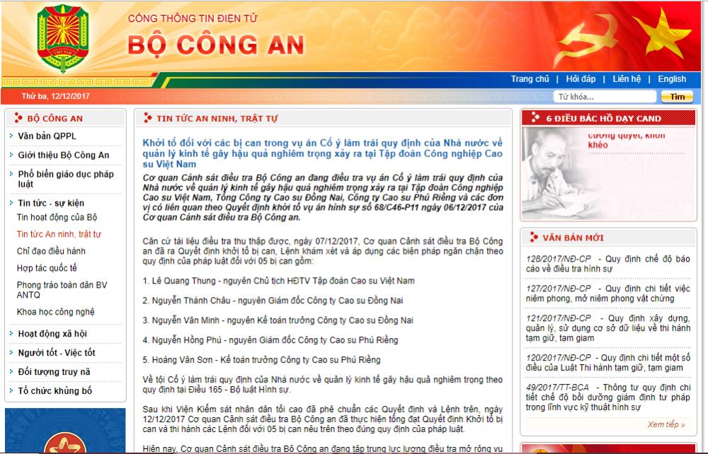 Khỏi tó nguyen Chu tich HDTV Tap doan Cao su Viet Nam hinh anh 1