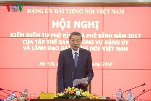 Thuong tuong To Lam du va chi dao Hoi nghi kiem diem Ban Thuong vu Dang uy VOV hinh anh 3