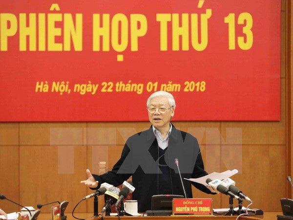 Tong Bi thu: 'Kien quyet loai khoi bo may nhung can bo hu hong, tham nhung' hinh anh 1