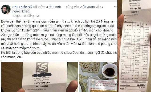 Nha hang bi to 'chat chem' du khach gan 25 trieu dong mot bua an khuya hinh anh 1