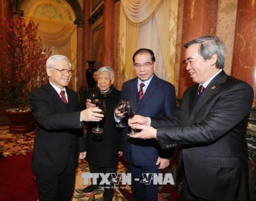 Tong Bi thu chuc Tet lanh dao, nguyen lanh dao Dang, Nha nuoc hinh anh 3