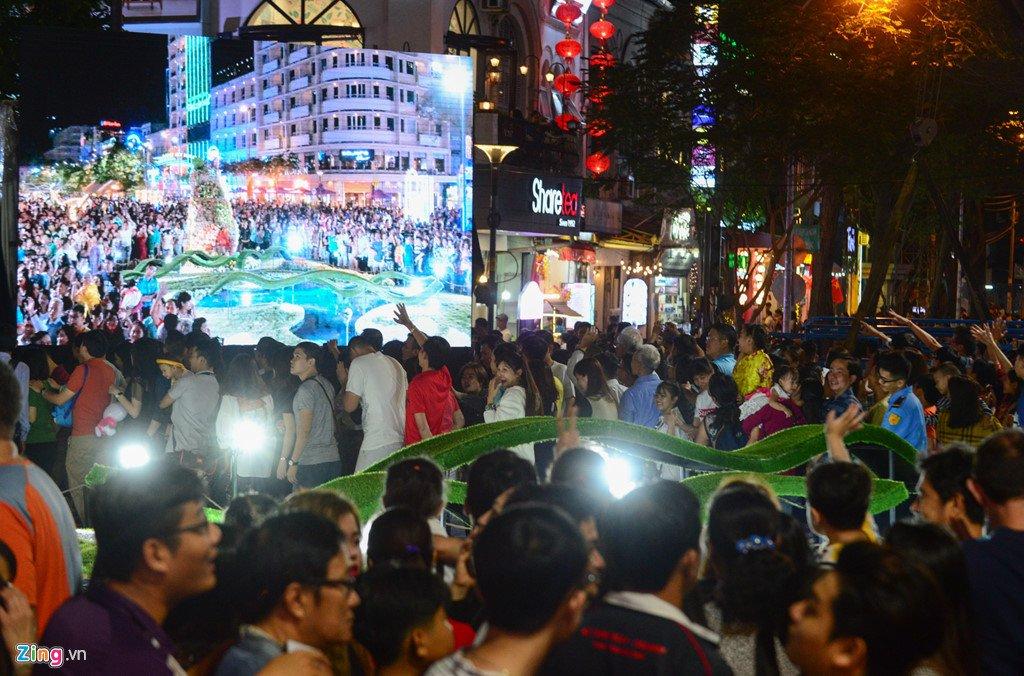 Anh: Duong hoa Nguyen Hue ken cung nguoi trong dem khai mac hinh anh 5