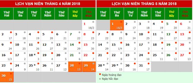 Lich nghi chinh thuc gio To Hung Vuong 2018 va dip 30/4,1/5 nam 2018 hinh anh 1
