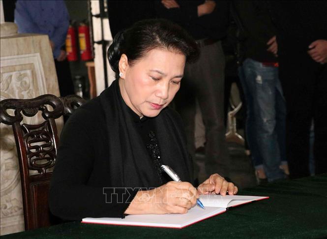 Tong Bi thu, Chu tich nuoc cung nhieu lanh dao Nha nuoc vieng nguyen Pho Chu tich Quoc hoi Nguyen Phuc Thanh hinh anh 9