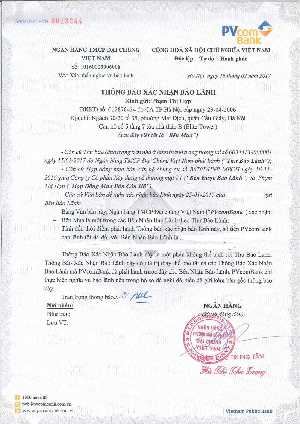 Hanoi Paragon trao chung thu bao lanh den tung khach hang hinh anh 2