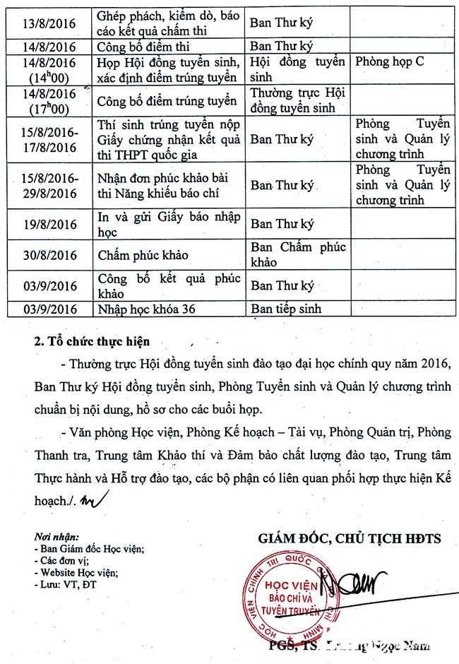 Hoc vien Bao chi Tuyen truyen cong bo ke hoach thi nang khieu bao chi hinh anh 2