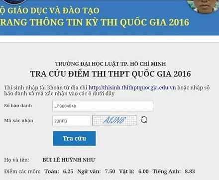 Diem thi THPT quoc gia 2016: Hon 1.500 thi sinh bat ngo thay doi diem tieng Anh hinh anh 1