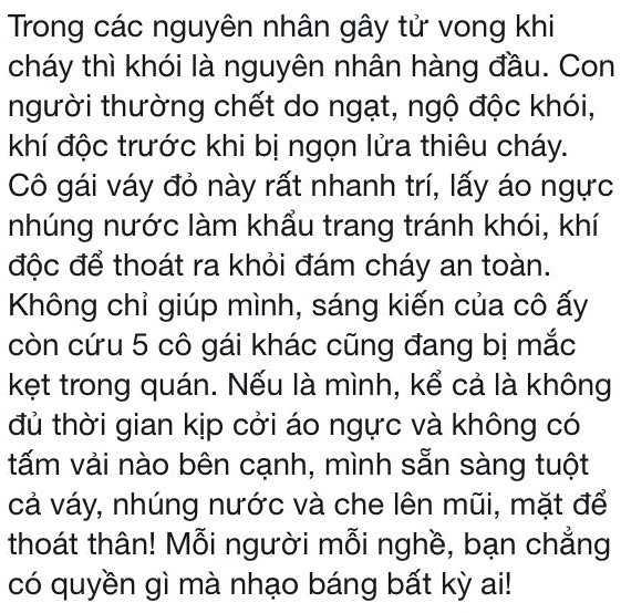Hot girl 9X coi ao nguc bit mui thoat khoi dam chay khon kho vi binh luan ac y cua dan mang hinh anh 3
