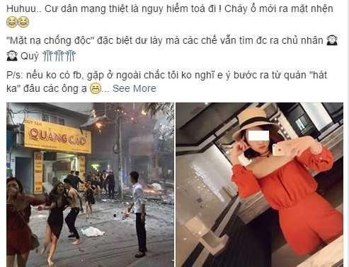 Hot girl 9X coi ao nguc bit mui thoat khoi dam chay khon kho vi binh luan ac y cua dan mang hinh anh 1