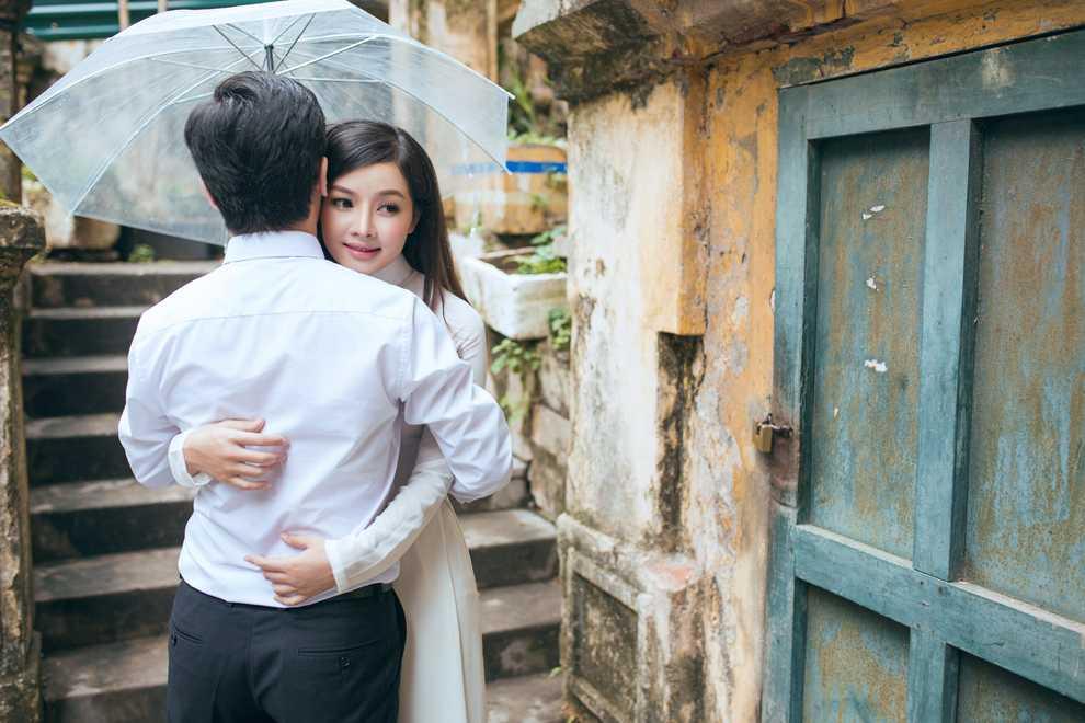 Hot girl Thanh Thao dep diu dang trong bo anh cuoi dam chat thu Ha Noi hinh anh 2