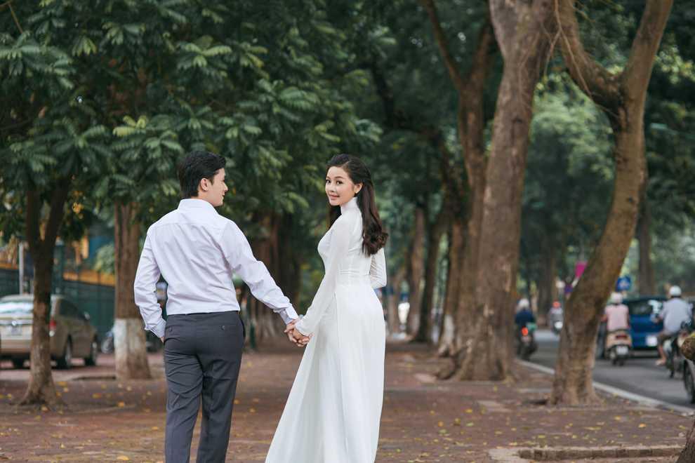 Hot girl Thanh Thao dep diu dang trong bo anh cuoi dam chat thu Ha Noi hinh anh 7