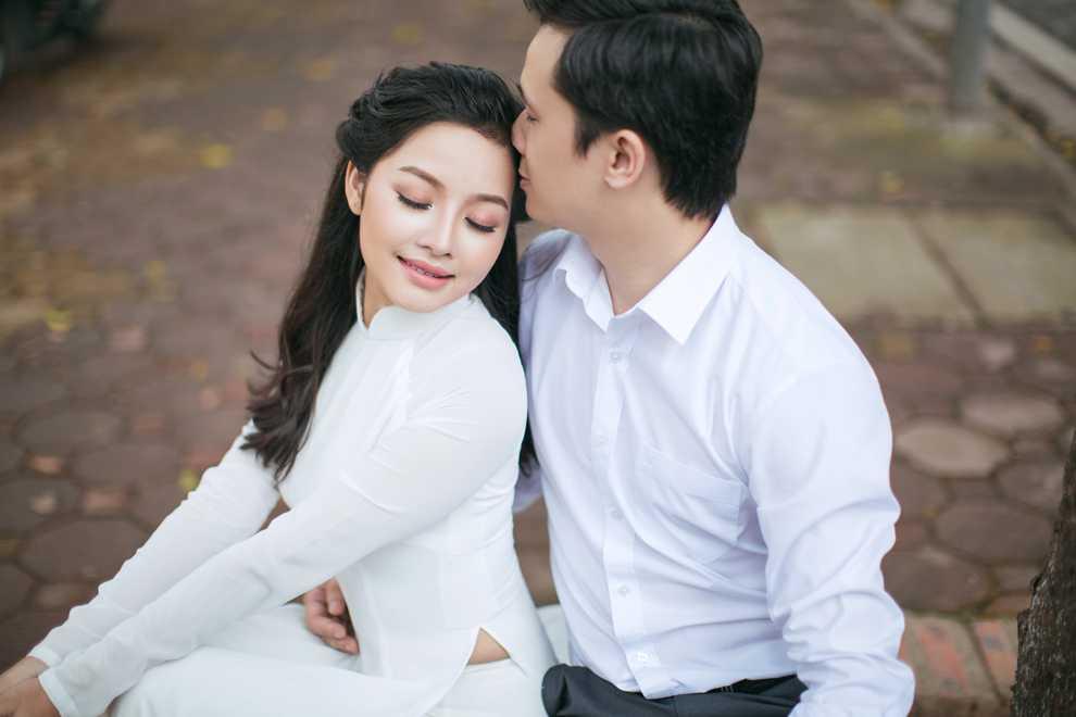 Hot girl Thanh Thao dep diu dang trong bo anh cuoi dam chat thu Ha Noi hinh anh 6