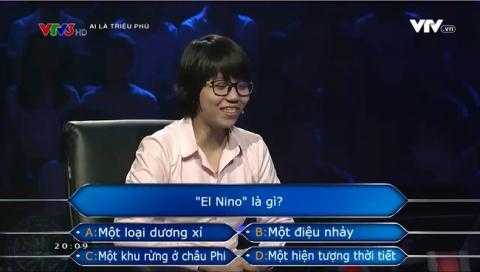 Co gai khong biet El Nino la gi: 'Tra loi khong dung thi da lam sao' hinh anh 1
