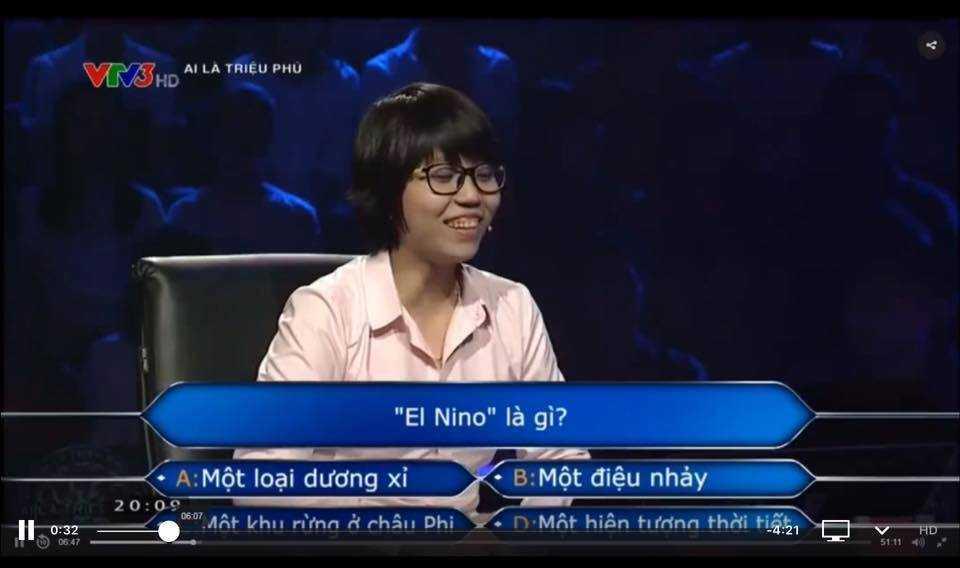 Co gai khong biet El Nino la gi trong 'Ai la trieu phu': Thay giao chia se bat ngo hinh anh 1
