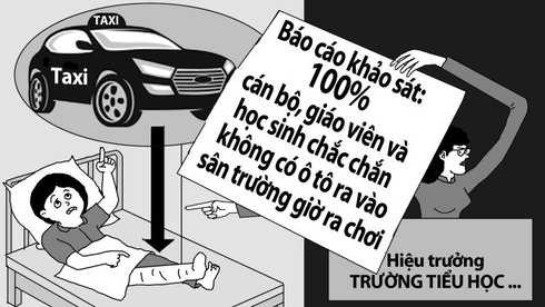 100% giao vien tieu hoc Nam Trung Yen xac nhan khong co taxi vao truong: Su gia doi dang so hinh anh 1