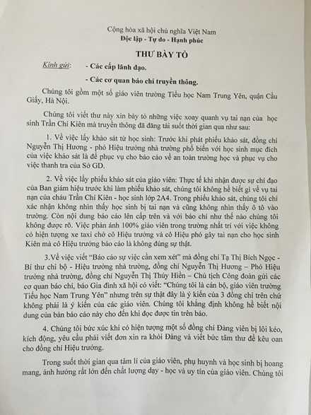 Hoc sinh bi dam gay chan trong san truong: Them 18 giao vien tieu hoc Nam Trung Yen tiet lo su that hinh anh 1